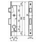 recessed locks BRICARD Monopoint Série 5348