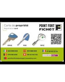 Carte de propriété Fichet Orio