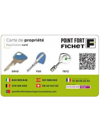 Ownership cards Carte de propriété Fichet Orio