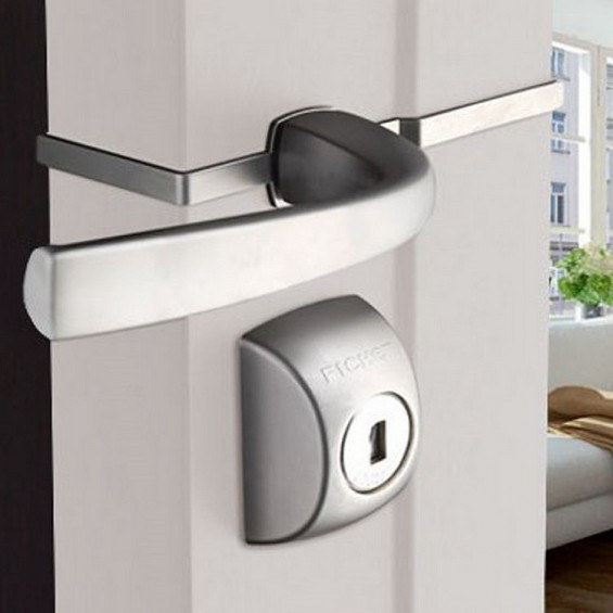 Wall-mounted lock FICHET Alicea XP A2P 3* à pênes crochets avec entrebâilleur