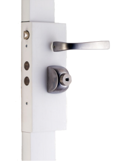 Wall-mounted lock FICHET Alicea Slim à cylindre rond