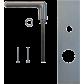 """Exterior handle Béquille mobile extérieure """"Golf"""" pour FICHET Primlock"""