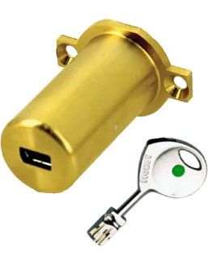 Demi cylindre FICHET 787 Z Standard pour Porte de cave ou Verrou 1001