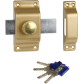 Lock BRICARD with button et cylinder Chifral S2
