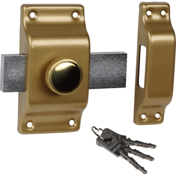 BRICARD lock with button and Bloctout cylinder