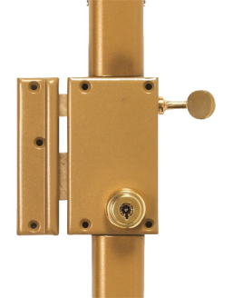 Pollux - 3-point surface-mounted lock with series 7000 cylinder
