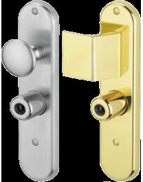 Half fixed handle set for Fichet doors