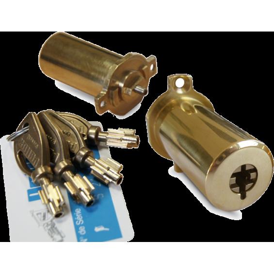 Cylinder set adaptable to Fichet lock