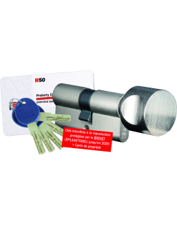ISEO R50 lock cylinder with button