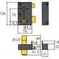 Serrure verticale à fouillot ISEO Zenith 572