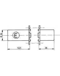 Paire de cylindres FICHET 666 pour serrure en applique