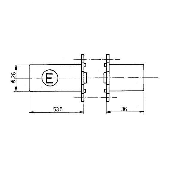 Paire de cylindres FICHET 666 type E