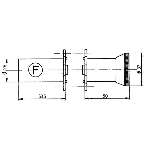 Paire de cylindres FICHET 666 à bouon pour serrure en applique