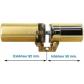 Round cylinders FICHET Monobloc 787 Z  A2P1* longueur standard ou rallongé