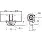 Cylindres supplémentaires s'entrouvrants BRICARD Chifral S2 Rond supplémentaire - même variure