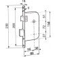 recessed locks BRICARD Serrure axe 55 mm