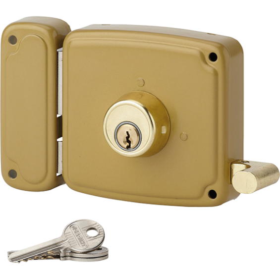 Wall-mounted lock THIRARD Serrure applique horizontale - à cylindre
